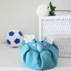 front blue elephant mochi bag soccer ball
