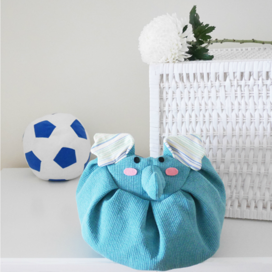 front blue elephant mochi bag soccer ball