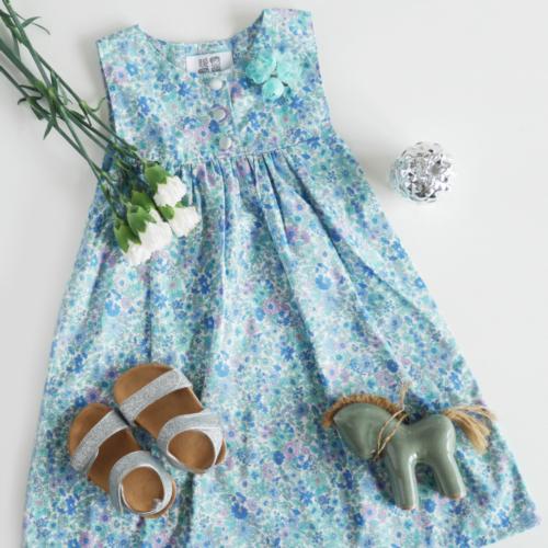 Light blue Tsai Series dress with flowers