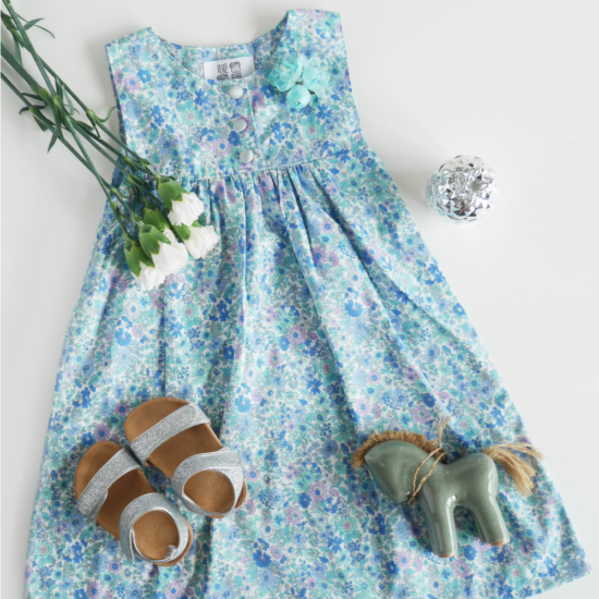 Light blue Tsai Series dress with flowers