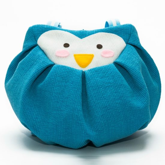 Front blue penguin mochi bag front