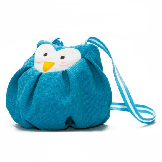 side blue penguin mochi bag
