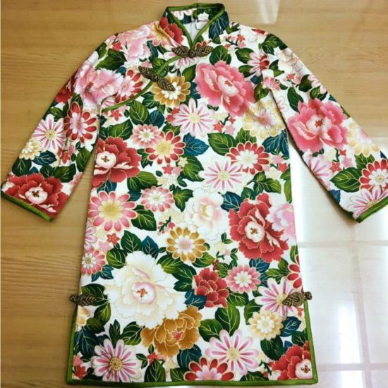 floral bespoke cheongsam for children