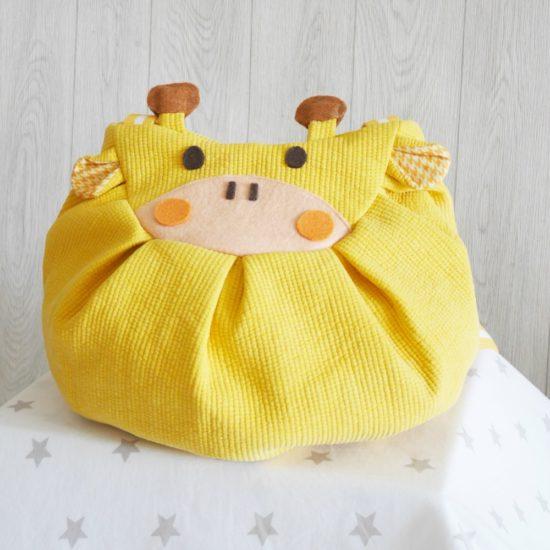 Yellow giraffe mochi bag backpack stars