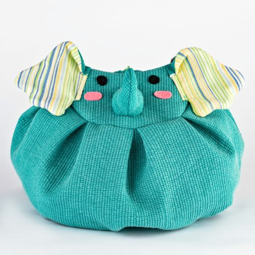 front green elephant mochi bag