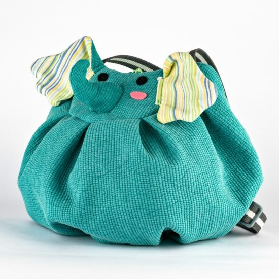 side green elephant mochi bag