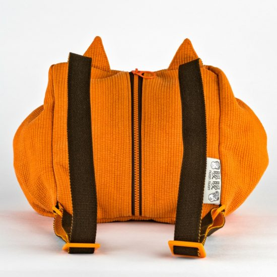 back orange fox mochi bag