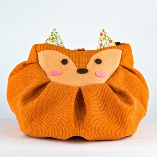 front orange fox mochi bag