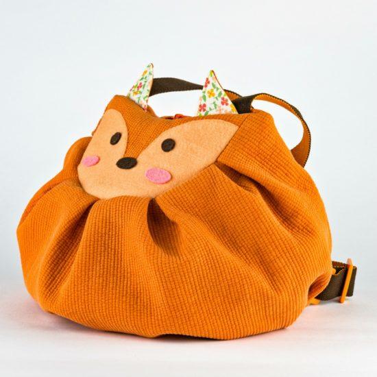 side orange fox mochi bag