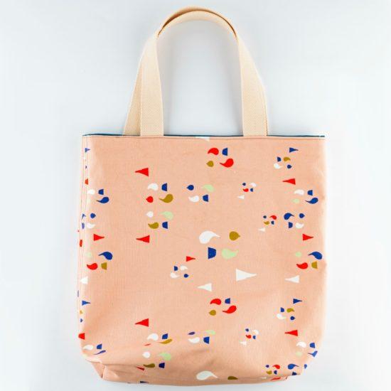 Front peach bookbag