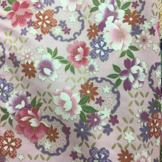 pink floral fabric for custom girls cheongsam