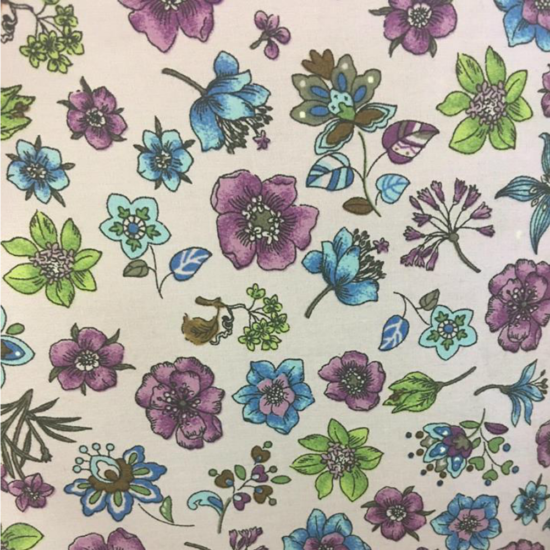 custom children's cheongsam fabric in blue, purple and green