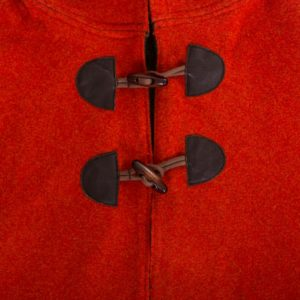 toggle details on girls red fox cape