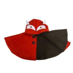 children's fun red fox cape