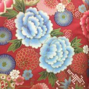 floral red fabric for custom children's cheongsam
