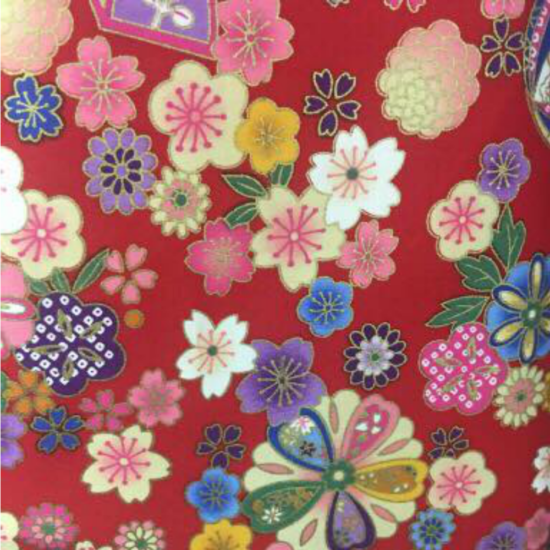 red fabric for bespoke girls cheongsam