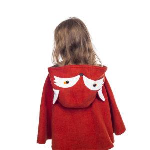 bespoke children's red fox cape