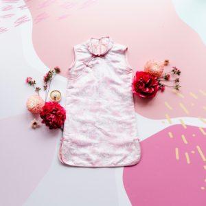 Girls pink Chinese dress