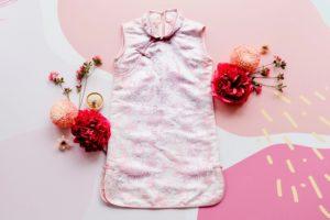 Pink Sleeveless Cheongsam