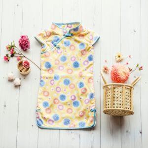 floral print girls cheongsam