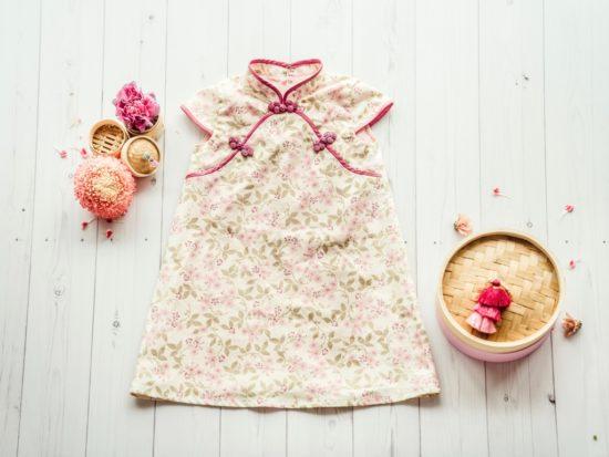 handmade girls cheongsam pink
