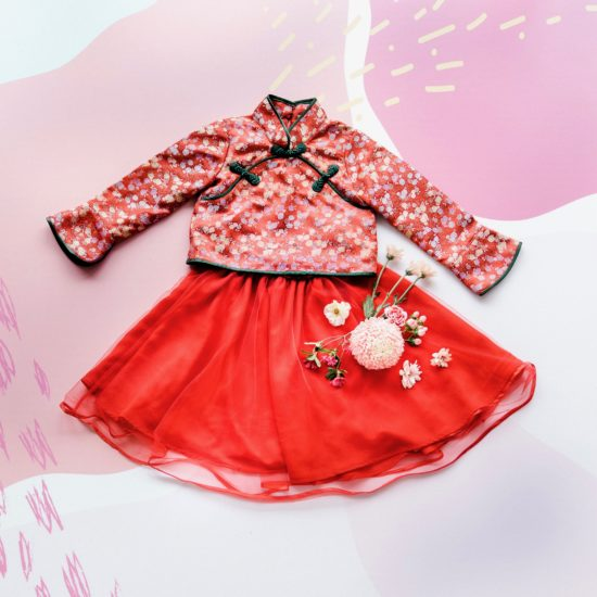 red classic cheongsam