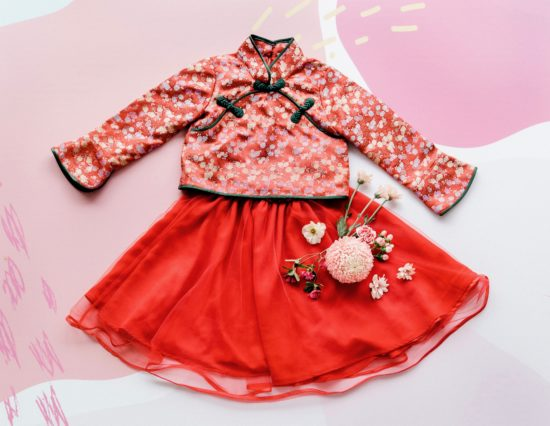 traditional girls cheongsam
